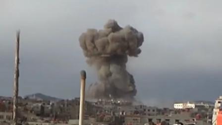 实拍叙利亚战场画面,天空冒起蘑菇云!