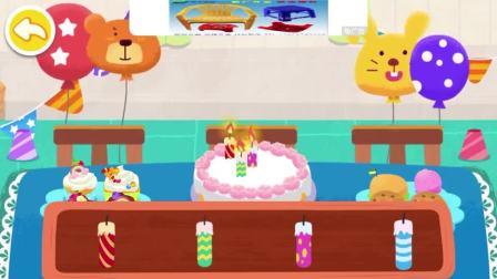 给蛋糕插上蜡烛,插几根好呢?宝宝巴士游戏(1)