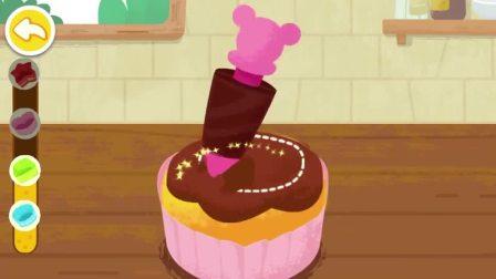 给蛋糕涂上奶油,要涂上几层奶油呢?宝宝巴士游戏(1)