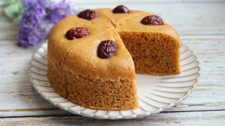 最适合懒人做的红糖发糕,搅一搅蒸一蒸,松软香甜,简单又好吃!