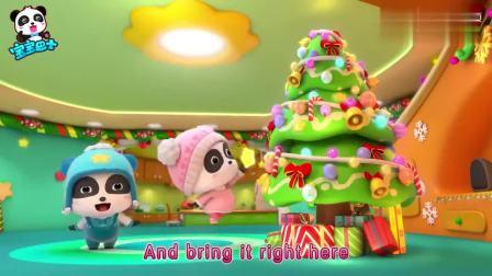 宝宝巴士:妙妙要把星星放圣诞树顶,圣诞小火车来帮忙
