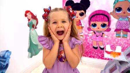 美国儿童时尚,小美女,玩神奇的魔法转盘