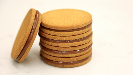 海盐焦糖甘纳许饼干:成人饼干,黑咖伴食