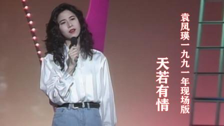 经典珍藏!袁凤瑛1991年演唱《天若有情》,罕见现场版!