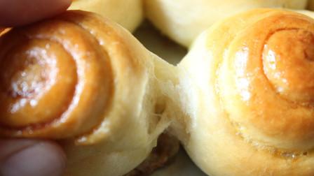 还原记忆中的美食,老式蜂蜜小面包,一次成功柔软拉丝香甜酥脆