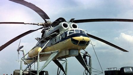 苏联直升机又一神作,绰号哈克的Mi-10直升机,载荷世界前五