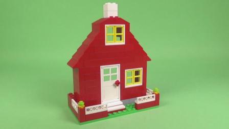 「积木模型DIY」红色小房子的拼装过程!