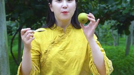 姐姐教你怎么吃猕猴桃,快来学!