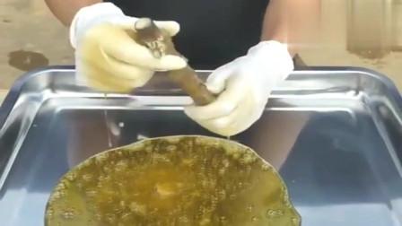 小蜂巢堪比海绵全是蜂蜜,超解压