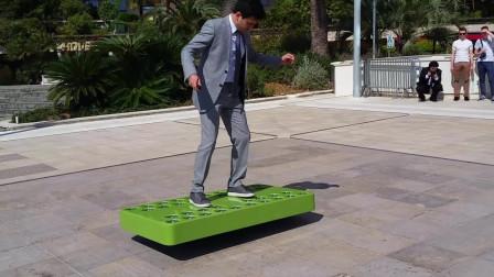 外国3款能载人飞行的滑板,第1个像绿板子,靠36台风扇带动!