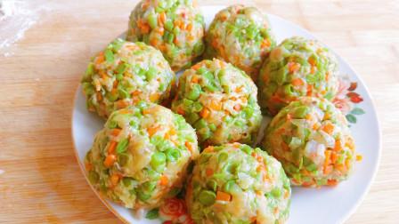 农村妈妈教你做豆角菜团子,营养美味,健康少油,做法简单还好吃