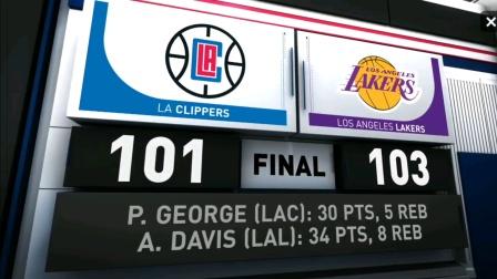 NBA复赛7.31日湖人VS快船集锦