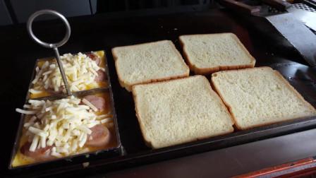 韩国的街边美食:香肠奶酪鸡蛋吐司