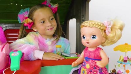 国外儿童时尚,小萝莉的冰激凌店,开业了