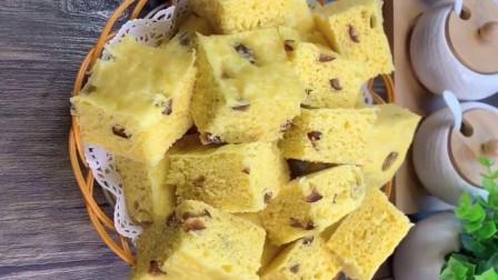 玉米面发糕 ,浓浓的枣香味,粗粮细作,回味童年