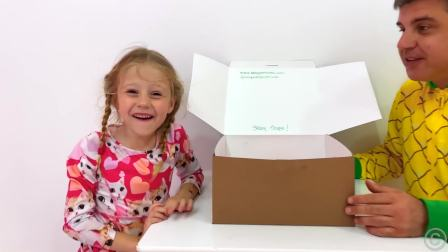 美国儿童时尚,小公主给宝爸做蛋糕庆祝宝爸生日,古灵精怪的