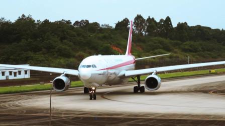 近距离实拍川航宽体客机A330起飞全过程,起飞后威武霸气!