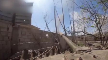 实拍叙利亚战场画面,坦克:我就碰了下,它就塌了!