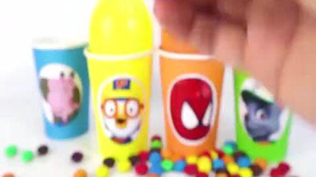 儿童动画雪花彩泥粘土DIY手工制作玩具视频大全 小猪佩奇的彩虹糖