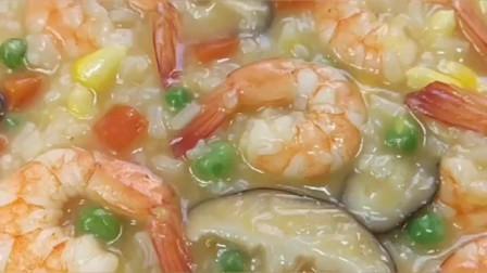 美食: 营养补钙时蔬鲜虾粥,营养又美味