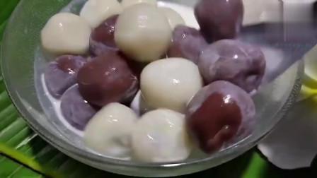 用最正宗巧克力做流心芋圆,咬一口直接爆汁,大家抢着买