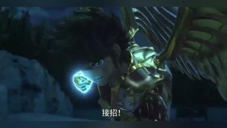 圣斗士星矢,穿上了射手座的黄金圣斗士,可以和黄金圣斗士战斗了