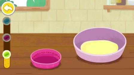 给面包挤上奶油,是不是就变成蛋糕了呢?宝宝巴士游戏