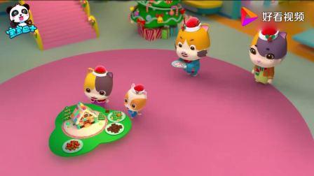 宝宝巴士儿歌—谁吃了姜饼屋?启蒙认知圣诞的元素姜饼人、姜饼屋(1)