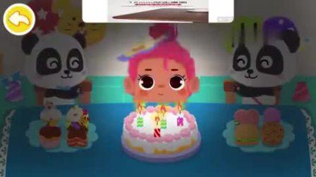 妙妙为朋友过生日,妙妙吃了几块蛋糕呢?宝宝巴士游戏