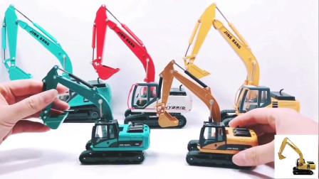 合金挖机儿童玩具工程车模型,金属挖掘机挖土机仿真模型玩具