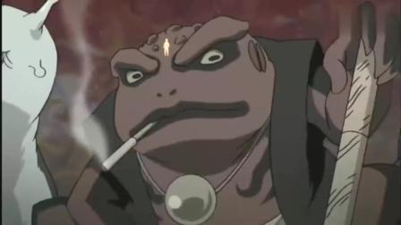 火影忍者:鸣佐樱帅气通灵,蛤蟆吉拿着短刀叼着烟卷就登场了