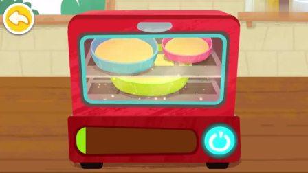 宝宝巴士:蛋糕已经烤好了,可以涂抹奶油了,蛋糕马上完工了