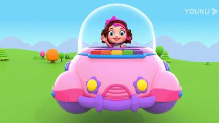 汽车玩具视频:可爱的小女孩开迷你小飞船做出一个大蛋糕