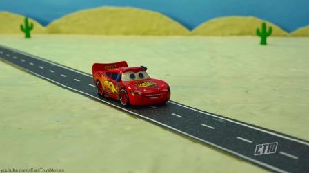 马特披萨发现UFO和蜘蛛闪电麦昆成为巨型汽车定格动画卡通