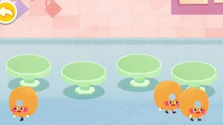 宝宝巴士美食派对 可爱面条扭一扭,变成彩色方便面~
