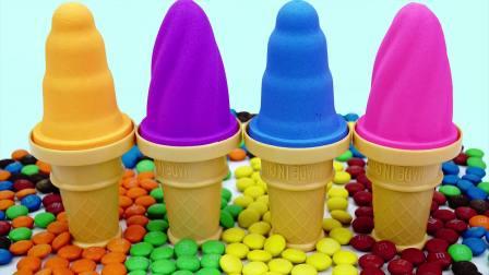 国外儿童时尚,好玩的太空沙,制作彩色糖果冰淇淋甜筒