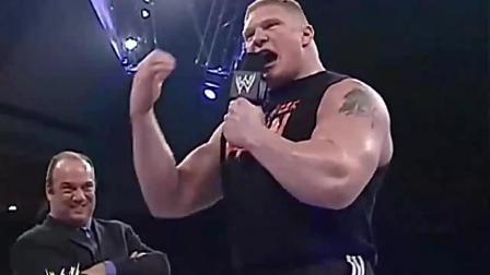 WWE姜还是老的辣,战神高柏狠心教育布洛克,下手真重!