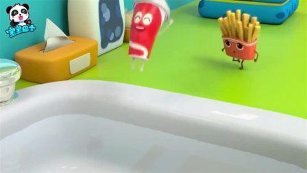 《宝宝巴士美食总动员》汉堡联盟 薯条们的游乐园被坏蛋披萨抢了