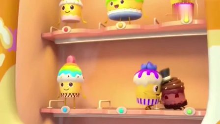 宝宝巴士:贩卖机快站好,等着客人们点餐,芒果蛋糕第一被选到
