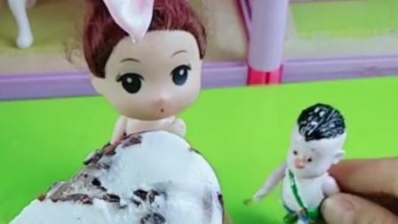 小光头强想吃巧克力,姐姐帮小光头强做了巧克力,小光头强会喜欢吗?