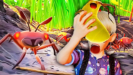 禁闭求生 我们变得和蚂蚁一样小,只能吃肥绿虫为生 屌德斯阿波兔