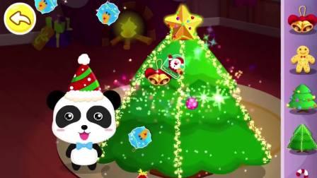 奇奇在装扮圣诞树,他装扮得怎么样呢?宝宝巴士游戏