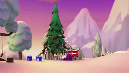 汪汪队立大功:萌宠唱着圣诞歌,一起装扮着圣诞树,太完美了!