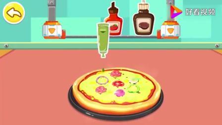 宝宝巴士:披萨做好了,芥末酱番茄酱黑椒酱,小伙伴来吃吧