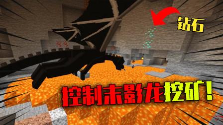 我的世界mod:控制凋零帮忙耕田!还能使唤末影龙帮忙挖矿?