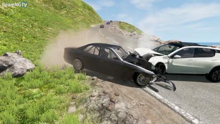 BeamNG模拟汽车碰撞高速车祸
