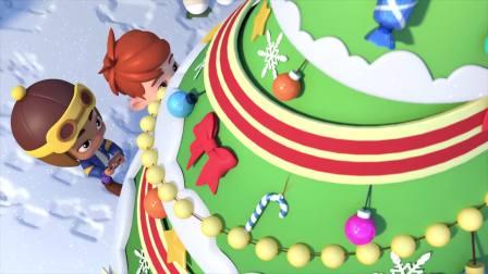 百变布鲁可:孩子们好幸福,不但有圣诞树,还有圣诞老人呢