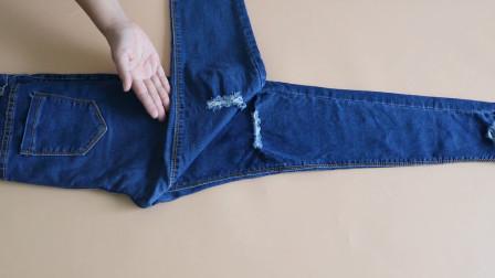 没想到裤子还能这样叠!整齐漂亮无褶皱,立马省半个衣柜,超简单