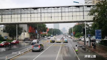 看城市变化,听城市声音——天津双层公交643行车视频,第五体育场-13经路