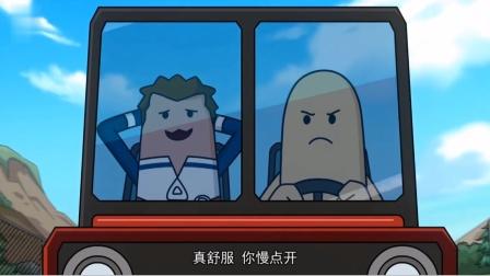 搞笑吃鸡动画:瓦特和鸡肉肠抢车,最后鸡肉肠服了,把车让了出来